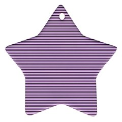 Lines pattern Star Ornament (Two Sides)