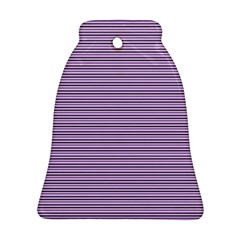 Lines pattern Bell Ornament (Two Sides)