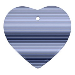Lines Pattern Heart Ornament (two Sides)