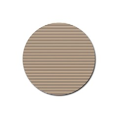 Lines pattern Rubber Round Coaster (4 pack)