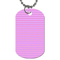 Lines pattern Dog Tag (One Side)