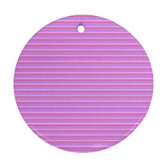 Lines pattern Round Ornament (Two Sides)