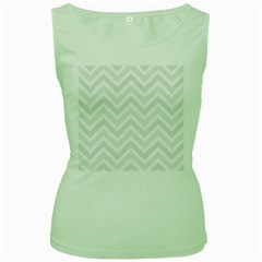 Zigzag  pattern Women s Green Tank Top