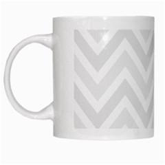 Zigzag  pattern White Mugs