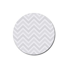 Zigzag  pattern Rubber Round Coaster (4 pack)