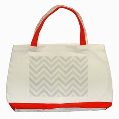 Zigzag  pattern Classic Tote Bag (Red)