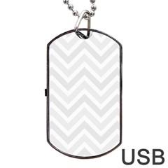 Zigzag  pattern Dog Tag USB Flash (One Side)