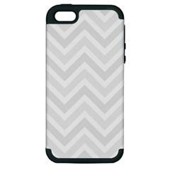 Zigzag  pattern Apple iPhone 5 Hardshell Case (PC+Silicone)