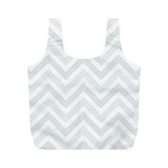Zigzag  pattern Full Print Recycle Bags (M)