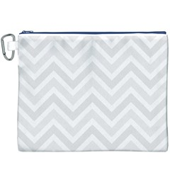 Zigzag  pattern Canvas Cosmetic Bag (XXXL)