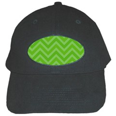 Zigzag  pattern Black Cap