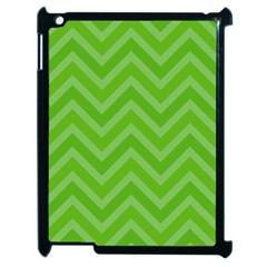 Zigzag  pattern Apple iPad 2 Case (Black)