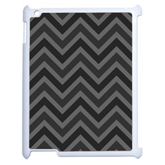Zigzag  pattern Apple iPad 2 Case (White)