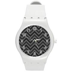 Zigzag  pattern Round Plastic Sport Watch (M)