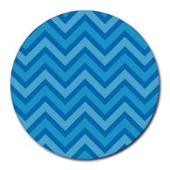 Zigzag  pattern Round Mousepads