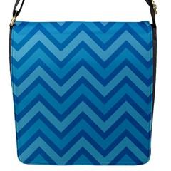 Zigzag  pattern Flap Messenger Bag (S)