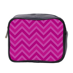 Zigzag  pattern Mini Toiletries Bag 2-Side