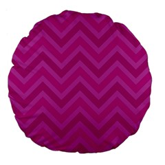 Zigzag  pattern Large 18  Premium Flano Round Cushions