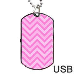 Zigzag  pattern Dog Tag USB Flash (One Side)
