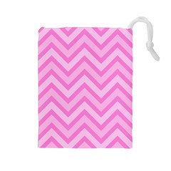 Zigzag  pattern Drawstring Pouches (Large)