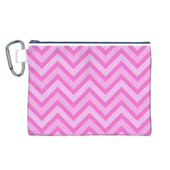 Zigzag  pattern Canvas Cosmetic Bag (L)