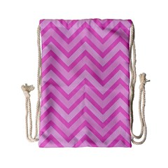 Zigzag  pattern Drawstring Bag (Small)