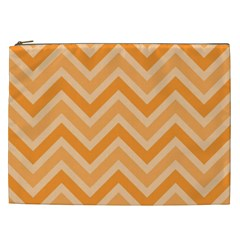 Zigzag  pattern Cosmetic Bag (XXL)