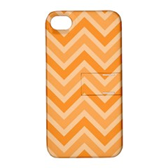 Zigzag  pattern Apple iPhone 4/4S Hardshell Case with Stand