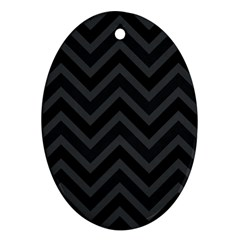 Zigzag  pattern Oval Ornament (Two Sides)