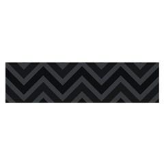 Zigzag  pattern Satin Scarf (Oblong)
