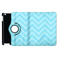 Zigzag  pattern Apple iPad 2 Flip 360 Case
