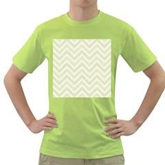 Zigzag  pattern Green T-Shirt