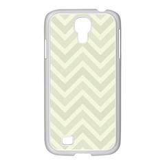 Zigzag  pattern Samsung GALAXY S4 I9500/ I9505 Case (White)