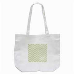 Zigzag  pattern Tote Bag (White)