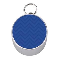 Zigzag  pattern Mini Silver Compasses