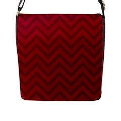 Zigzag  pattern Flap Messenger Bag (L)