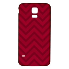 Zigzag  pattern Samsung Galaxy S5 Back Case (White)