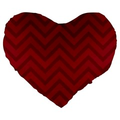 Zigzag  pattern Large 19  Premium Flano Heart Shape Cushions