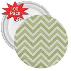 Zigzag  pattern 3  Buttons (100 pack)