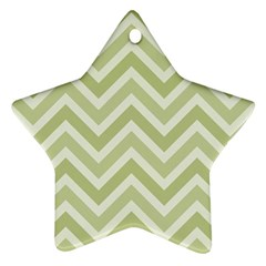 Zigzag  pattern Star Ornament (Two Sides)