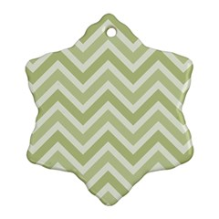 Zigzag  pattern Snowflake Ornament (Two Sides)