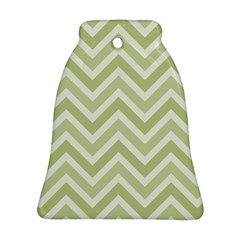 Zigzag  pattern Bell Ornament (Two Sides)