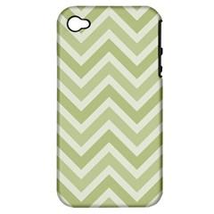 Zigzag  pattern Apple iPhone 4/4S Hardshell Case (PC+Silicone)