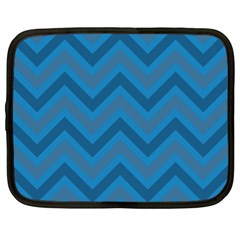 Zigzag  pattern Netbook Case (XL)