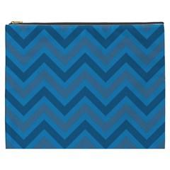 Zigzag  pattern Cosmetic Bag (XXXL)