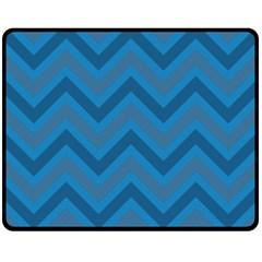 Zigzag  pattern Double Sided Fleece Blanket (Medium)