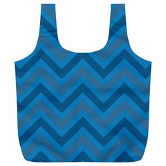 Zigzag  pattern Full Print Recycle Bags (L)