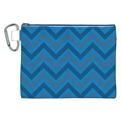 Zigzag  pattern Canvas Cosmetic Bag (XXL)