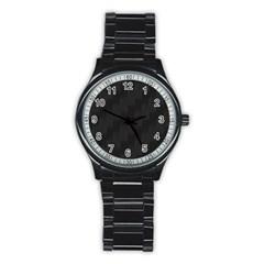 Zigzag  pattern Stainless Steel Round Watch
