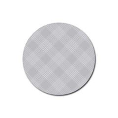 Zigzag  pattern Rubber Coaster (Round)
